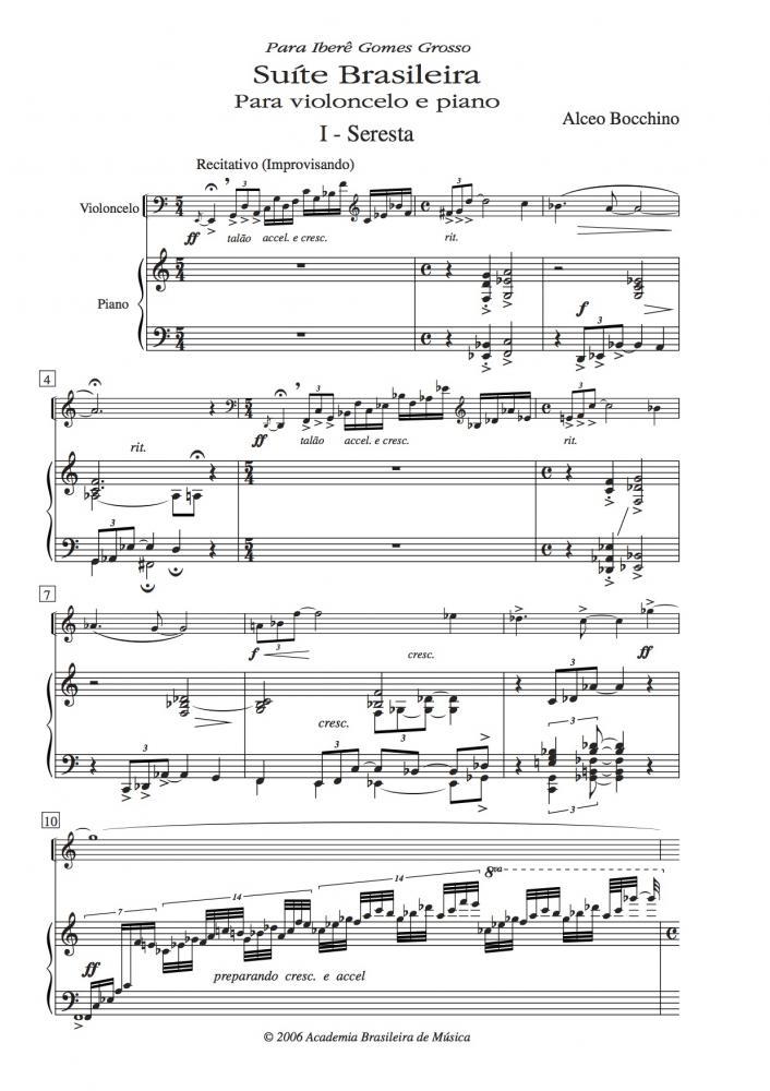 Suíte brasileira para violoncelo e piano